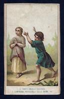 Santino/holycard: L'ANGELO CUSTODE - E - Cromolitografia - Retro Particolare! - Religione & Esoterismo