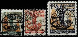 Danzig1921,Michel# 90 - 92 O - Abstimmungsgebiete