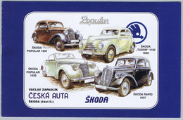 C0744 ** - Cote:12,00 €  - Vieilles Voitures Skoda - Unused Stamps