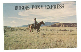 """Postcard Vintage USA Used """"Dubois Pony Express""""  See Description AA - Other"""