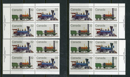 Canada MNH PB's 1983  Canadian Locomotives - Unused Stamps
