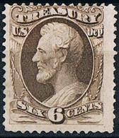USA  Etats- Unis 1873 Treasury Stamps 6c Brown  MNH Without Gum Timbres Du Trésor Brun 6c Neuf Sans Gomme Scott 075 - Vari