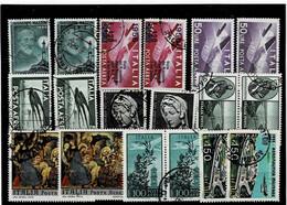 ITALIA REPUBBLICA ,posta Aerea ,2 Pezzi Per Tipo ,usati ,qualita Ottima - Poste Aérienne