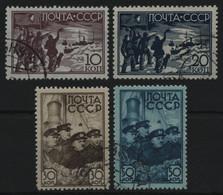 Russia / Sowjetunion 1938 - Mi-Nr. 614-617 Gest / Used - Papanin - Usati