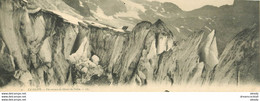 05 LA GRAVE. Crevasse Glacier Du Vallon. Carte Panoramique 27 X 10 Cm Non Pliée - Otros Municipios