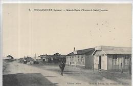80,Somme,FOUCAUCOURT, Grande Route D'Amiens à St-Quentin,Personnage,  Scan Recto-Verso - Autres Communes