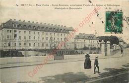 35.  RENNES .  Place Hoche . Ancien Séminaire . Faculté Des Lettres . - Rennes