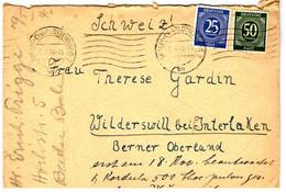 48679 - De BERLIN Pour La SUISSE - American/British Zone