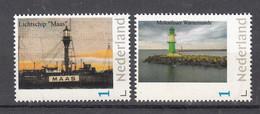 """Nederland Persoonlijke Zegel  Vuurtoren , Lighthouse: Lichtschip """"Maas""""+ Warnemunde - Faros"""