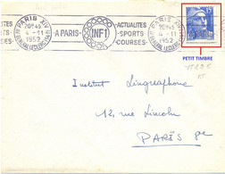 MARIANNE GANDON 15 F. YT 886 * PETIT TIMBRE * OMec RBV PARIS XIV Du 4-11-1952 - 1921-1960: Période Moderne