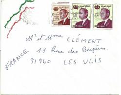 YT 907 1225 - Roi Hassan II - Lettre De Marrakech Pour La France - Morocco (1956-...)
