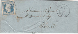 LETTRE. 8 5 55. N° 14 (4 Belles Marges). RUEIL. SEINE-ET-OISE. PC 2754. POUR PAIS - 1849-1876: Klassik