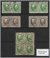 LUXEMBOURG - Adolphe - Used Pairs, Strips & Blocks! - 2 Scans (23 Stamps) - 1891 Adolphe Voorzijde