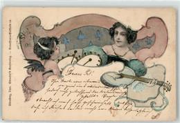 52956230 - Frau Laute Renaissance-Postkarte TSN - Angeli
