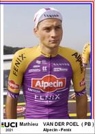 Mathieu Van Der Poel  2021  Cyclisme Tour De France 1 Cards Aux Choix Format Carte Postal  (2) - Sin Clasificación