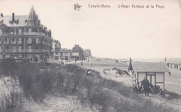Koksijde  -Coxyde - L'Hôtel Terlinck Et La Plage - Pas Circulé  -TBE - Koksijde