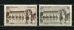 FRANCE - CHENONCEAUX - N° Yvert 610+611** - Ungebraucht