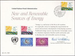 UNO NEW YORK 1981 Mi-Nr. 21 Erinnerungskarte - Souvenir Card - Briefe U. Dokumente