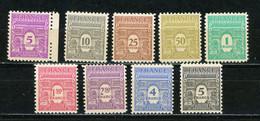 FRANCE - ARC DE TRIOMPHE - N° Yvert  620/628** - 1944-45 Triomfboog