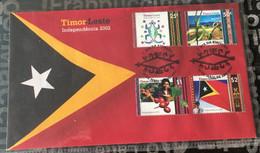 (stamp 29-6-2021) Timor Leste (East Timor) 1st Set Of Stamps (issued By Australia Post) After Independence (SCARCE) FDC - Osttimor