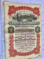 BRAZIL  RAILWAY  COMPANY --------Action  Privilégiée  De  100 $ - Railway & Tramway