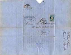 TB 2986 - 1871 - LAC - Lettre De Mr Felix FAURE Au HAVRE Pour LYON - 1849-1876: Klassieke Periode