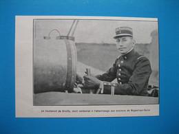(1911) Aviateur, Lieutenant DE GRAILLY, Mort Carbonisé à L'atterrissage Aux Environs De Nogent-sur-Seine - Unclassified