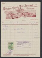 "Belgique - Facture à En-tête Illustrée (Uccle) ""Brasserie & Malteries Merlo & Linkebeek, Réunies Merlink"" - 1900 – 1949"