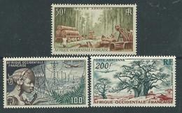 A. O. F.   P. A.  N° 18 / 20 XX   Communications Et Flore, Les 3 Valeurs Sans Charnière TB - Unused Stamps