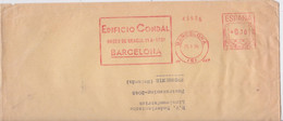Barcelona Edificio Condal Lettre Espagne EMA Affranchissement Mécanique Machine Slogan Espana Correos Meter Mail Cover - Machine Stamps (ATM)