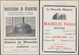 Belgique - Le Petit Journal Du Brasseur (Ateliers De Monsville à Quaregnon, Maïserie MASELIS Frères à Roulers) - 1900 – 1949