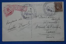 V11 FRANCE BELLE CARTE  1946   PARIS GARE NORD POUR TUNIS+ MOSQUEE PARIS+ AFFRANCH. INTERESSANT - Brieven En Documenten