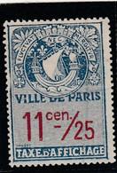 T.F.Affiches De Paris 11/25 Centimes - Revenue Stamps