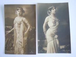 2 Cpa Artiste ? Femme Sensuelle Angelina Gurlitt Photo Gerlach Edit GG C° Ser 530/2 530/1 - Women