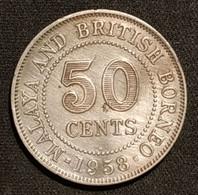 MALAISIE - MALAYA AND BRITISH BORNEO - 50 CENTS 1958 - Tranche De Sécurité - Security Edge - Elizabeth II - KM 4.1 - Malaysia
