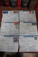 6  ENVELOPPES  AVEC  CORRESPONDANCE  POUR  LE  CROISEUR  JEANNE  D  '  ARC  1939  /  1940   Lot  A - Guerra Del 1939-45