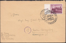 Germany - Grossdeutsches Reich MiNr. 880 EF Brief, SAALFELD 8.9.1944. - Storia Postale