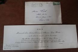 GUADELOUPE  FAIRE  PART  MARIAGE  POUR  LE  CROISEUR  JEANNE  D  '  ARC  1941 - Guerra Del 1939-45