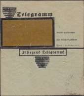 Germany - Allied Occupation. N.S. (Blacked Out) Inliegend Telegramm, 1946. - Zona AAS