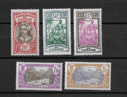 ⭐ Océanie - YT N° 69 à 74 ** Sans Le 72- Neuf Sans Charnière - 1927 / 1930 ⭐ - Unused Stamps
