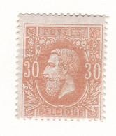 Belgique - COB 33 N4 - Monté Sur Charnière - Cote ~135€ - 1869-1883 Léopold II