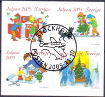 ZWEDEN 2005 Blok Kerstzegels GB-USED - Oblitérés