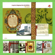 Portugal 28.06.2021 , Arquivo Regional Da Madeira 90 Anos - Stamps + Sheet - Postfrisch / MNH / (**) - Unused Stamps