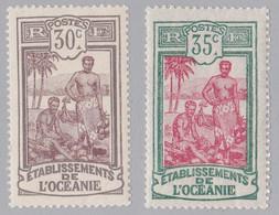 ⭐ Océanie - YT N° 29 à 30 ** - Neuf Sans Charnière - 1913 / 1915 ⭐ - Unused Stamps