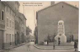 CPA - 69 - Sainte Foy Les Lyon - Monument Aux Morts - Animée - Other Municipalities