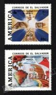 El Salvador 1992 Yvert 1160-61, America UPAEP. History. 500th Anniv America Discovery - MNH - El Salvador