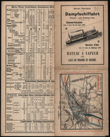 Horaire D'été (1901) - Bateau à Vapeur Des Lacs De Thoune Et Brienz (Suisse) + Carte Voir Verso - Europe