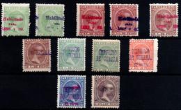 Puerto Rico Nº 152, 152hcc, 154, 154hcc, 157, 2, 4, 13Aa, 11/12.Año 1898 - Puerto Rico