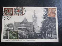 E- Carte Postale Allemagne Danzig Millergewerkshaus Und Katharinenkirche - Vari