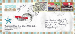 PAKISTAN  REGISTERED   COVER  FROM KARACHI I WITH KEMAL ATATURK  STAMPS. - Pakistán